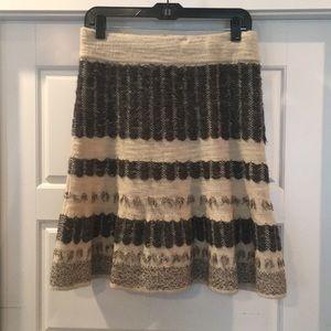 Anthropologie sz M sweater knit skirt